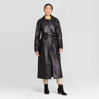 Prologue Women's Long Sleeve Maxi Leather Coat - PrologueTM Black