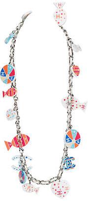 One Kings Lane Vintage Chanel Cruise Fish & Logo Necklace/Belt - Vintage Lux