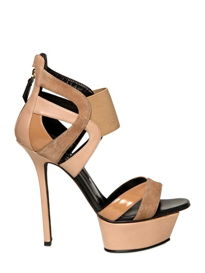 Diego Dolcini 130mm Leather & Suede Sandals