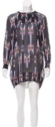 Etoile Isabel Marant Printed Long Sleeve Dress
