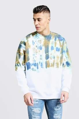 Ombre Tie Dye Oversized Sweater