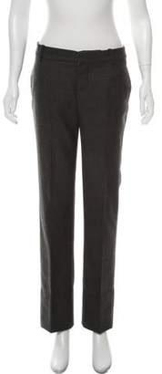 Chloé Low-Rise Straight-Leg Wool Pants