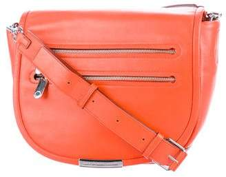 Marc by Marc Jacobs Leather Dual Zip Pocket Saddle Bag