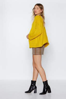 Nasty Gal Let Knit Go Oversized Cardigan