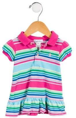 Ralph Lauren Girls' Striped Button-Up Dress