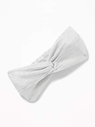 Old Navy Pleated Satin Head Wrap for Women