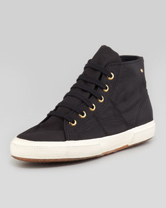 Superga For The Row Cashmere High-Top Sneaker, Black