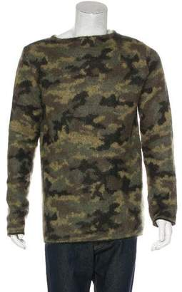 Balmain Camouflage Mohair-Blend Sweater w/ Tags
