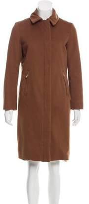 Loro Piana Knee-Length Zip-Up Coat