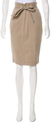 Robert Rodriguez Belted Knee-Length Skirt