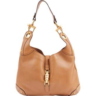 Gucci Vintage Camel Leather Handbag