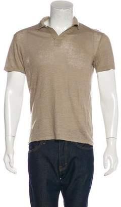 Vince Linen Polo Shirt