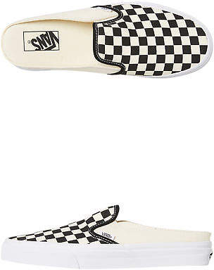 Vans New Women's Womens Classic Slip On Mule Checkerboard Rubber Canvas