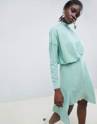 Asos Tuck Detail Mini Dress