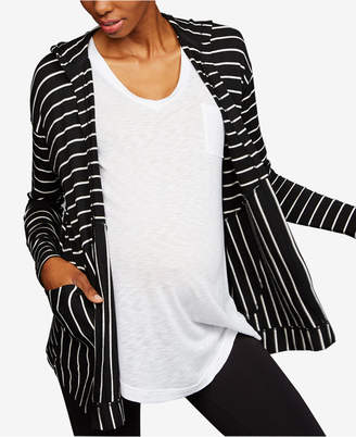 A Pea in the Pod Maternity Hooded French Terry Cardigan