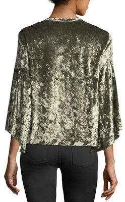 W by Wilt 3/4-Sleeve Velvet Top