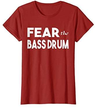 Fear The Bass Drum Shirt Funny Percussion Drummer Tee