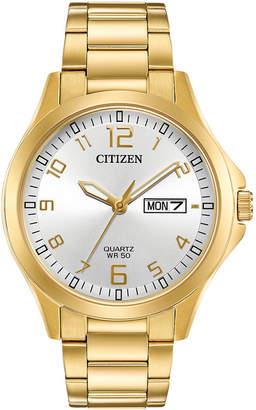 Citizen Men Quartz Gold-Tone Stainless Steel Bracelet Watch 40mm