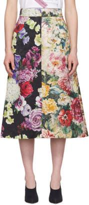 Dolce & Gabbana Multicolor Brocade Floral Skirt