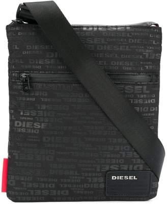 Diesel logo print shoulder bag