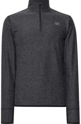 New Balance Transit Mélange Stretch-Jersey Half-Zip Top
