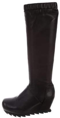 Camilla Skovgaard Leather Wedge Boots Black Leather Wedge Boots