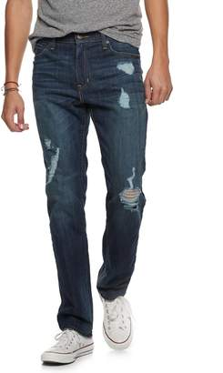 Men's Urban Pipeline Straight-Leg Destructed Jeans