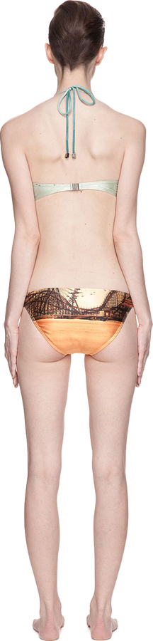 We Are Handsome Green & Orange The Playground Underwire Bikini