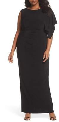 Adrianna Papell One Drape Sleeve Jersey Dress