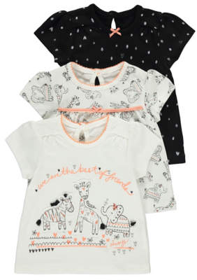 George Giraffe Tops 3 Pack