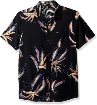 Volcom Men's Motel Floral Short Sleeve Shirt