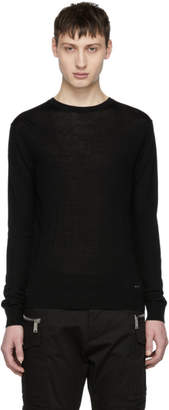 DSQUARED2 Black Wool Pullover
