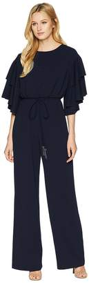 Adrianna Papell Blouson Ruffle Sleeve Jumpsuit Women's Jumpsuit & Rompers One Piece