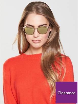 Burberry Round Logo Arm Sunglasses - Brown
