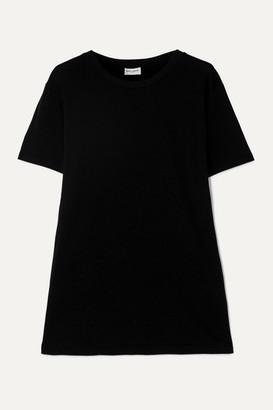Saint Laurent Velvet Mini Dress - Black