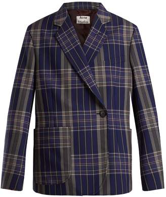 Acne Studios Kheira oversized checked blazer