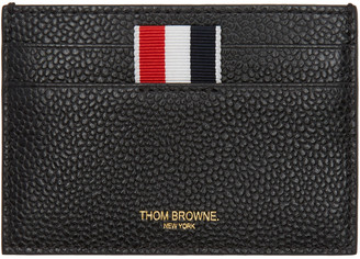 Thom Browne Black Single Card Holder $270 thestylecure.com
