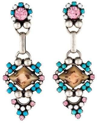 Dannijo Crystal Emiliana Drop Earrings