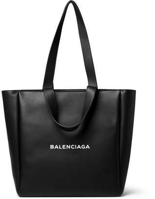 Balenciaga Printed Leather Tote Bag