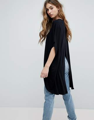 Asos DESIGN Top with Kimono Sleeve and Dip Split Back