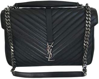 Saint Laurent Collége monogramme leather satchel