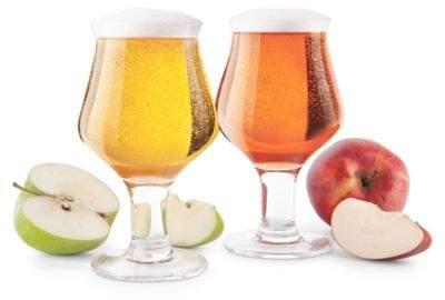 Final Touch Hard Cider Glasses (Set of 2)