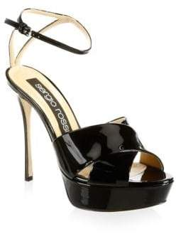 Sergio Rossi Patent Leather Platform Sandals