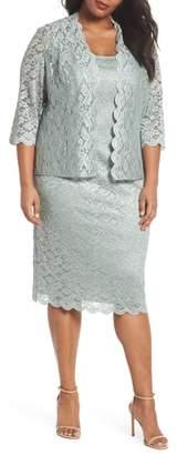 Alex Evenings Lace Sheath Dress & Jacket