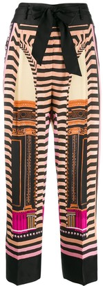 Temperley London printed wide-leg trousers