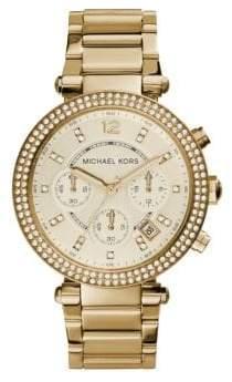 Michael Kors Crystal Chronograph Bracelet Watch/Gold