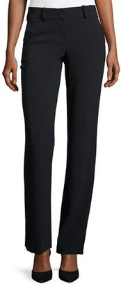 Giorgio Armani Front-Zip Slight-Flare Pants, Navy $1,095 thestylecure.com