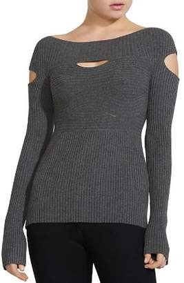 Bailey 44 Samovar Cutout Rib-Knit Sweater