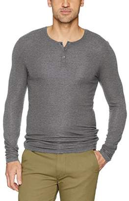 ATM Anthony Thomas Melillo Men's Long Sleeve Rib Henley