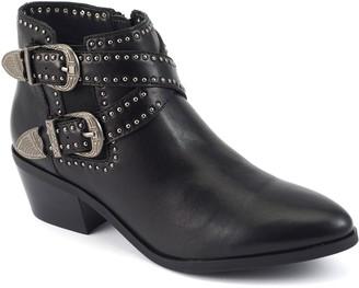 David Tate Western Look Leather Booties - Senator